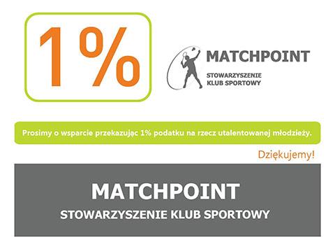 1% podatku wsparciem zawodników SKS Matchpoint