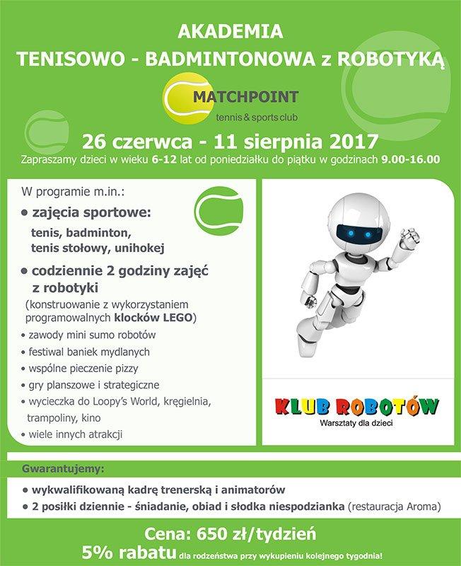 Akademia Tenisowo-Badmintonowa z robotyką