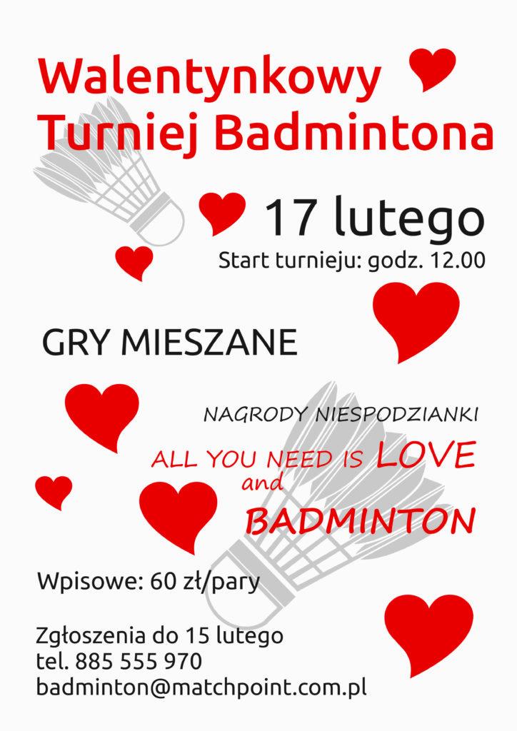 Walentynkowy Turniej Badmintona