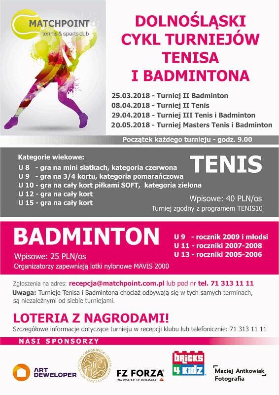 Dolnośląski Cykl Turniejów Tenisa i Badmintona – kolejna edycja!  (zmiana terminów)